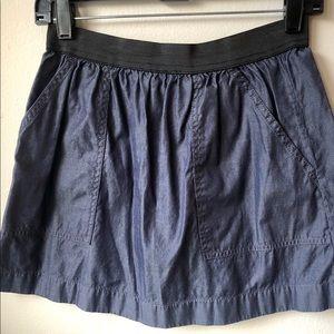 J. Crew denim mini skirt